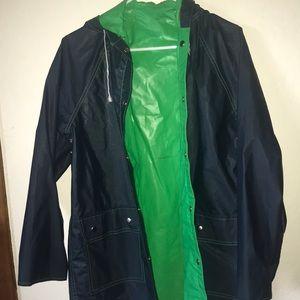 Jackets & Blazers - Navy Heavy Duty rain jacket!